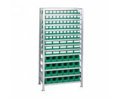 Steckregal H2000xB1000xT400mm Anbauregal 16 Stahlböden 90 x 3,30 x 4 grün