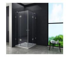 rahmenlose Duschkabine LUXORLINE 80 x 80 x 195 cm ohne Duschtasse