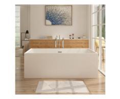 Freistehende Design Badewanne ALTENA - aus Acryl in Weiß 160x80 cm