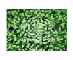 Papier Fototapete 3D Quadrate grün 368x254cm