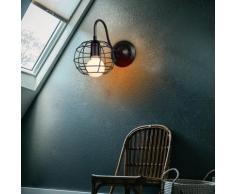 2 Stück Industral Wandleuchten Vintage Innenkäfig form Kugel Metall hängende Leuchte für Wohnzimmer