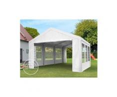 Partyzelt Pavillon 4x5 m in weiß 180 g/m² PE Plane Wasserdicht UV Schutz Festzelt Gartenzelt