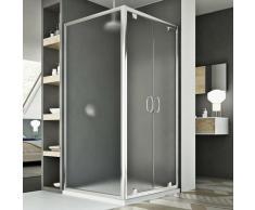 Sintesi Duo 2 Türen Duschkabine 110x90 ÖF. 110 CM H185 Strukturglas