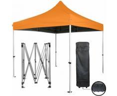 orange Faltpavillon 3x3m 40mm Stahlrohr Plane 300g / m² 100% wasserdichte PVC-BESCHICHTUNG