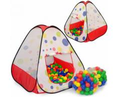 Kinderzelt Tiana mit 200 Bällebadbällen