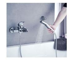 Badewannenarmatur mit Handbrause Duschsysteme Duscharmatur mit Wasserfall Auslauf Wannenarmatur