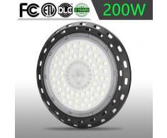 200W LED Hallenstrahler UFO Industrielampe Kühles Weiß LED Hallenleuchte Deckenleuchte 20000LM