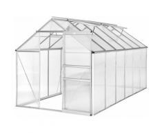 Tectake - Gewächshaus ohne Fundament - Frühbeet, Tomatenhaus, Treibhaus - 375 x 185 x 195 cm