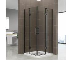 Duschkabine Celine mit Eckeinstieg Eckduschkabine aus durchsichtigem ESG Sicherheitsglas 190 cm