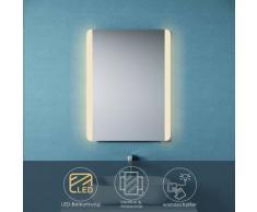 Sonni - Badspiegel LED mit Beleuchtung 60x80 Badezimmerspiegel Wandspiegel Lichtspiegel