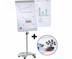 Flipchart-Set inkl. Zubehör, höhenverstellbar, 1700 – 2000 mm mit stabilem