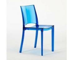 18 Stühle Küchenstuhl Esstischstuhl Esszimmerstuhl Grand Soleil B-Side   Transparent Blau