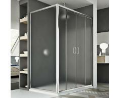 Replay Duo 2 Türen Duschkabine 140x90 CM H185 Strukturglas