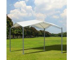Outsunny® Gartenpavillon Partyzelt Gartenlaube Sonnenschutz Metall Polyester Creme - creme