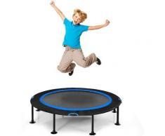 ?120 cm Mini Trampolin, Fitness Trampolin faltbar, Kindertrampolin bis 65kg belastbar,