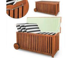 Auflagenbox mit Rädern und Edelstahlgriff - inklusive Innenplane