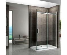 Duschkabine mit Schiebetüren NANO-ESG Klarglas DK06 130X80cm