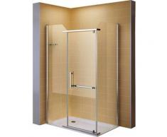 Duschkabine Duschabtrennung Eckkabine NANO-ESG Klarglas DK8020 Links und Rechts montierbar 80x120