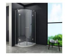 Duschkabine ANGOLO 80 x 80 x 195 cm (Viertelkreis) ohne Duschtasse