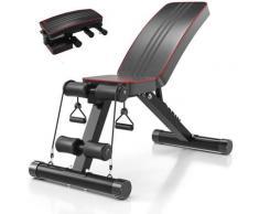Klappbare Hantelbank, Multifunktion Training Fitness Bank, 2 in 1 Sit-ups Verstellbarer Rückenlehne