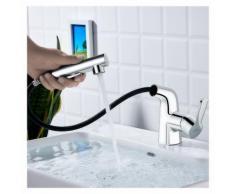 Auralum Waschtischarmatur fürs Bad mit Ausziehbare Brause | Wasserhahn für Waschbecken und