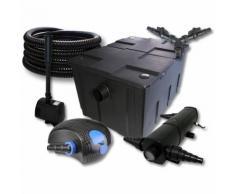 SunSun Filter Set für 60000l Teich mit 24W Teichklärer und 100W ECO Pumpe 25m Schlauch Springbrunnen