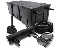 Filter Set aus Bio Teichfilter bis 90000l UVC Klärer mit 36W 80W Pumpe und Springbrunnenpumpe