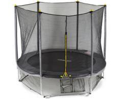 Relaxdays - 3 tlg. Outdoor Trampolin Set, Gartentrampolin Kinder & Erwachsene, bis 150kg,