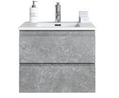 Badezimmer Badmöbel Set Angela 60cm F. Ash - Unterschrank Schrank Waschbecken Waschtisch