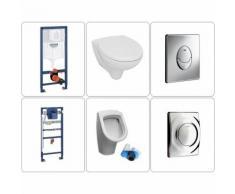 Urinal mit Zulauf von hinten Set mit Wand-WC Grohe, chrom