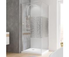 Duschkabine Eckeinstieg Dusche Drehtür mit Seitenwand 80x80 Eckdusche