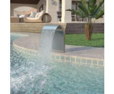 Pool-Brunnen Edelstahl 45 x 30 x 65 cm Silber