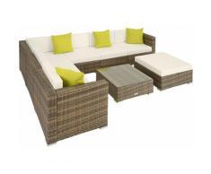 Rattan Lounge mit Aluminiumgestell Marbella - Gartenlounge, Terrassenmöbel, Rattan Lounge - natur