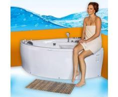 Eckwanne Whirlpool Pool Badewanne A615R Reinigungsfunktion 165x148 -13842- mit Ringzirkulation /