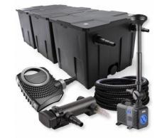 SunSun 3-Kammer Filter Set 90000l 18W UVC Teich Klärer NEO8000 70W Pumpe Schlauch Springbrunnen