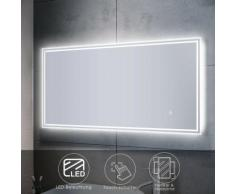 Sonni - Badspiegel LED mit Beleuchtung Touch Wandspiegel Badezimmerspiegel 120x60cm Bad