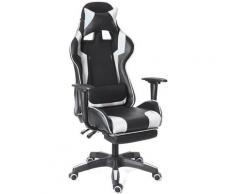 Bürostuhl Gaming Chair Ergonomisch 155 ° Liegespiel Weiß (Verbesserte Version)
