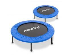 Relaxdays - Fitness Trampolin, 91 cm Durchmesser, Indoortrampolin, belastbar bis 100 kg, Fitness