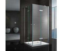 Duschkabine 120x120 Eckkabine mit Scharniertüren Nano Klarglas