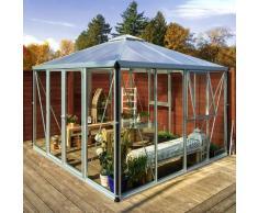 Vitavia Aktionsangebot (inkl. 100 Euro Zubehör): Gewächshaus-Pavillon 'Fortuna' aluminium eloxiert