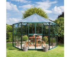 Vitavia Gewächshaus-Pavillon 'Hera 9000' inkl. Stahlfundament smaragd grün 3 mm ESG, 6 mm HKP