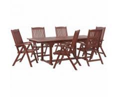 Gartenmöbel Set Akazienholz 6-Sitzer TOSCANA