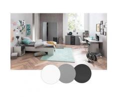 Lomadox - Jugendzimmer Komplett-Set 7-teilig NINOVE-04 in platingrau, anthrazit & weiß, inkl. Bett