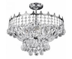 03-searchlight - Deckenleuchte 5 Glühlampen Versailles, in Chrom und Kristall