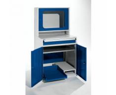 QUIPO Computerschrank - HxBxT 1600 x 800 x 695 mm - mit schmalem Auszug und