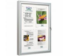 Schaukasten KLASSIK | HxL 75 x 55 cm | Format 4 x A4 | Certeo Vitrine Infokasten