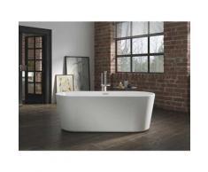 Freistehende Badewanne Murcia aus Acryl in weiß glänzend von Bädermax