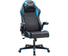 Gamingstuhl, Racing Chair, ergonomischer Schreibtischstuhl, Bürostuhl mit Kopfstütze und