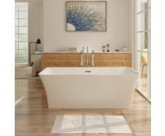 Freistehende Design Badewanne KARLSTAT - aus Acryl in Weiß 170 x 80 cm