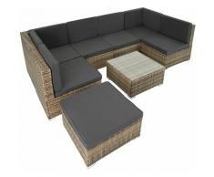 Rattan Lounge Venedig - Gartenlounge, Terrassenmöbel, Rattan Lounge - natur